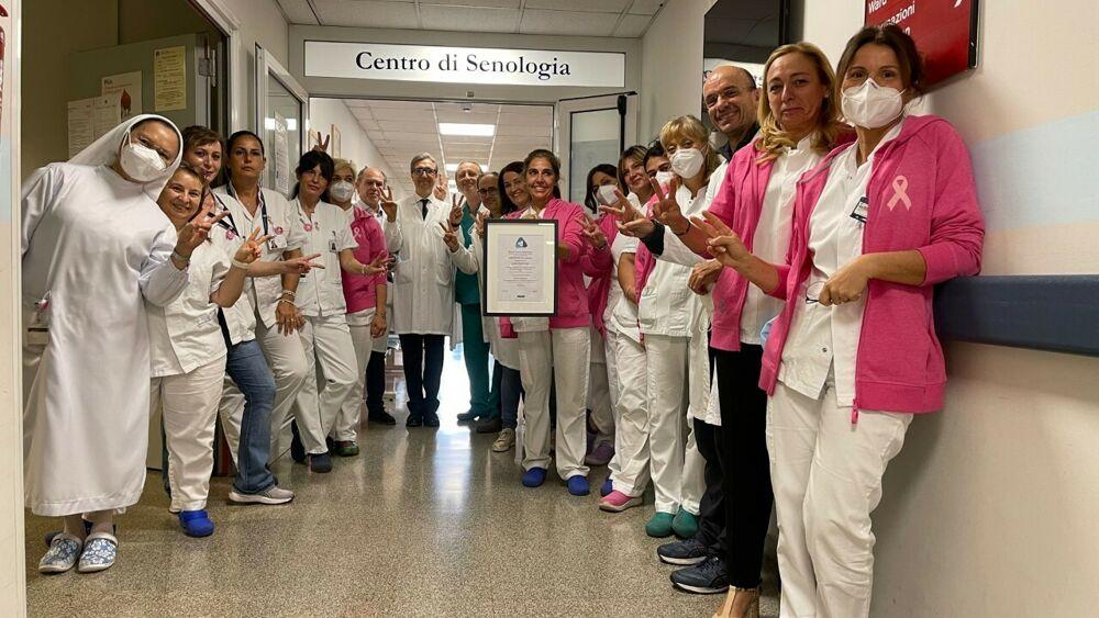 """Gli specialisti della """"breast unit"""" dell'ospedale San Giovanni di Roma."""
