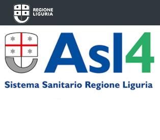 Il logo della Asl4 del Sistema Sanitario della Regione Liguria